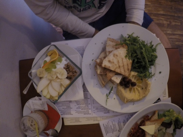 Our first meal at Café Pavlač!
