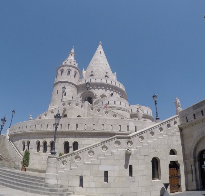 Fisherman's Bastion in all its Disney glory!