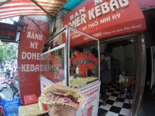 Veggie doner kebab.