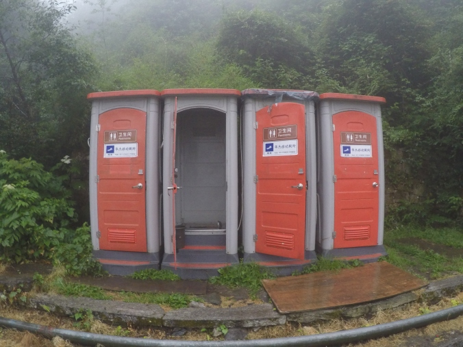 They even have porta squatties!