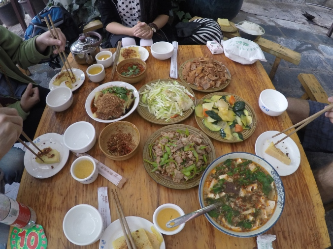 A traditional Bai meal.