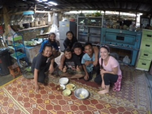 Hanging out with the guides and staff from Spicy Villa!