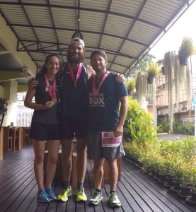 Karen, Josh and me after our race!